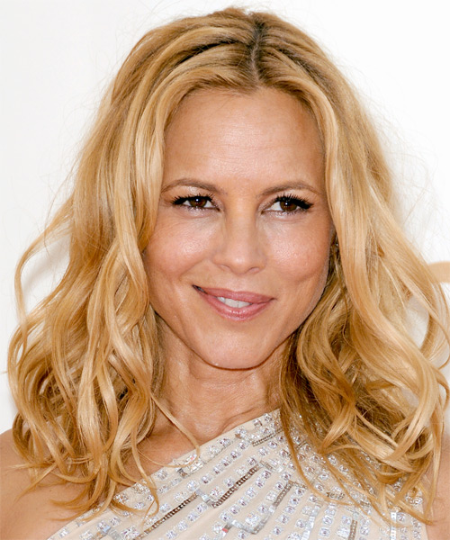 Maria Bello - Casual Medium Wavy Hairstyle