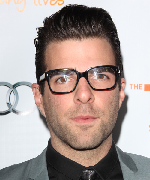 Zachary Quinto Short Straight Hairstyle - Medium Brunette