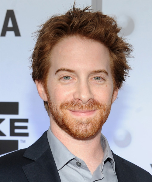 Seth Green Short Straight Hairstyle - Dark Blonde (Auburn)