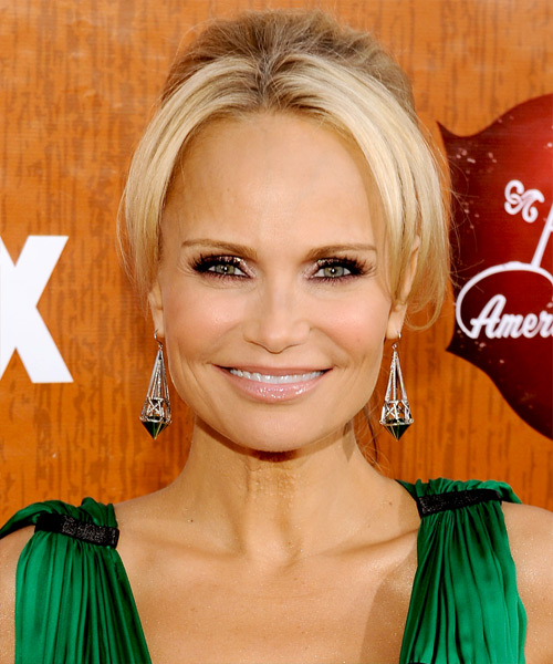Kristin Chenoweth Formal Straight Updo Hairstyle - Light Blonde (Golden)