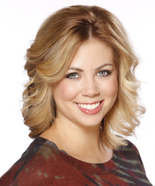 Medium Straight Formal Hairstyle - Medium Blonde (Golden) Hair Color