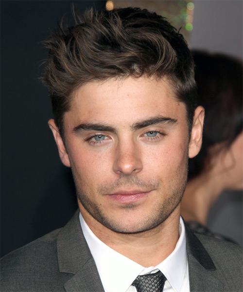 Hairstyles for man short haircuts straight fine hair haircuts for - Zac Efron Short Straight Casual Hairstyle Thehairstyler Com