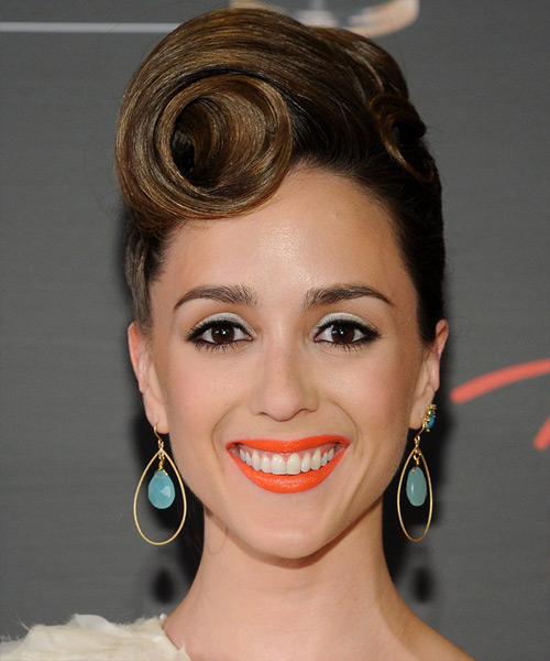 Christina Bennett Lind Formal Curly Updo Hairstyle - Dark Brunette (Ash)