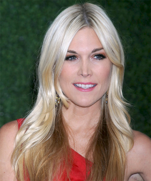 Tinsley Mortimer Long Straight Hairstyle - Light Blonde (Platinum)