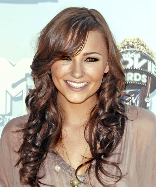 Briana Evigan - Casual Long Curly Hairstyle