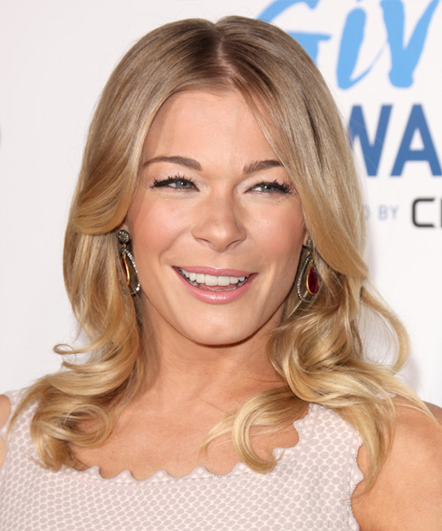 Leann Rimes Long Wavy Formal Hairstyle - Medium Blonde (Honey)