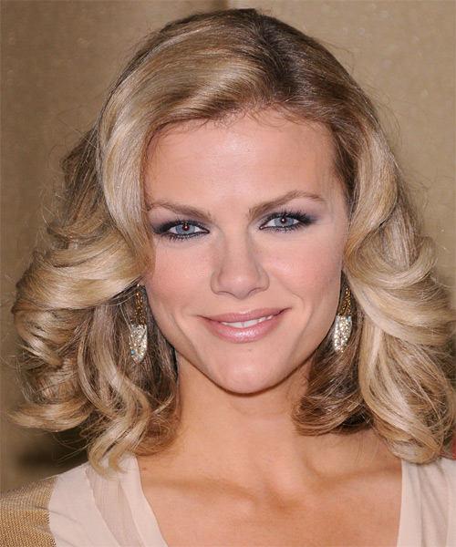 Brooklyn Decker Medium Wavy Formal Hairstyle - Light Blonde (Champagne) Hair Color
