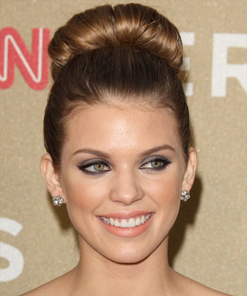 AnnaLynne McCord Straight Formal Updo Hairstyle - Light Brunette (Golden) Hair Color