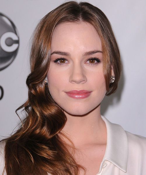 Christa B Allen Long Wavy Casual Hairstyle - Medium Brunette Hair Color