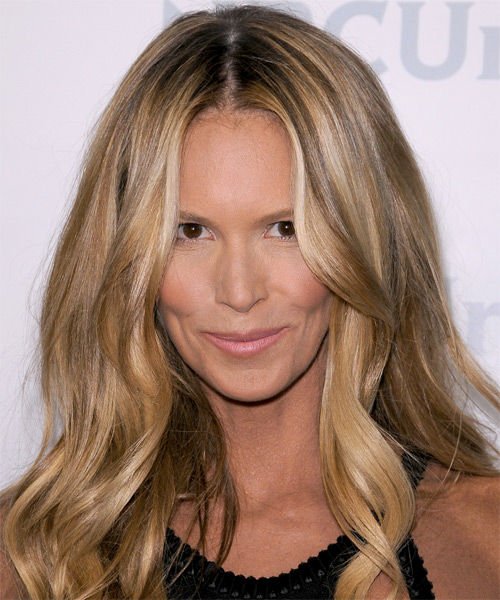 Elle Macpherson Long Wavy Casual Hairstyle - Medium Brunette (Ash)