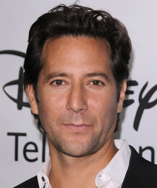 Henry Ian Cusick  Short Straight Casual Hairstyle - Dark Brunette Hair Color