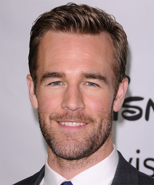 James Van Der Beek Short Straight Hairstyle - Medium Brunette (Caramel)