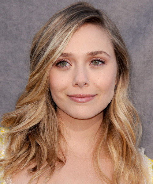 Elizabeth Olsen Long Wavy Hairstyle - Medium Blonde (Honey)