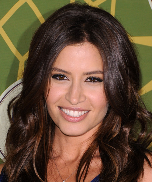 Mercedes Masohn Long Wavy Casual Hairstyle - Dark Brunette Hair Color