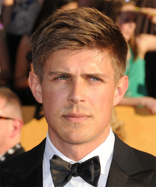 Chris Lowell Short Straight Casual Hairstyle - Dark Blonde Hair Color