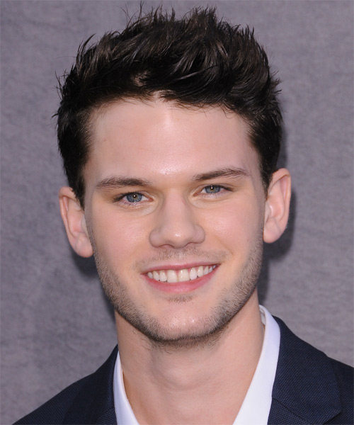 Jeremy Irvine Short Straight Casual Hairstyle - Dark Brunette Hair Color