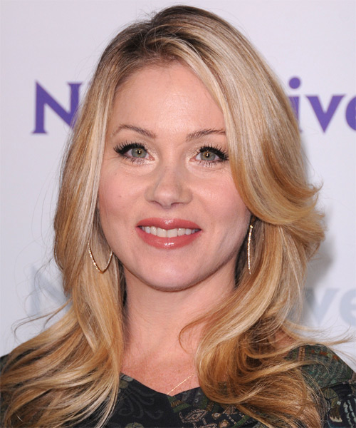 Christina Applegate Long Straight Casual Hairstyle - Medium Blonde (Copper) Hair Color