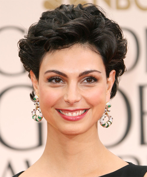 Morena Baccarin Short Wavy Casual Hairstyle - Dark Brunette (Ash) Hair Color