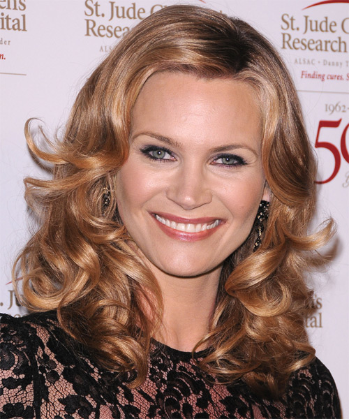 Natahsa Henstridge Medium Wavy Formal Hairstyle - Medium Blonde (Copper) Hair Color