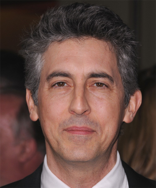 Alexander Payne Short Straight Hairstyle - Dark Grey