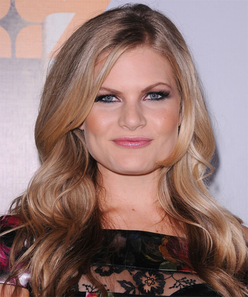 Bonnie Sveen Long Wavy Casual Hairstyle - Dark Blonde (Champagne) Hair Color