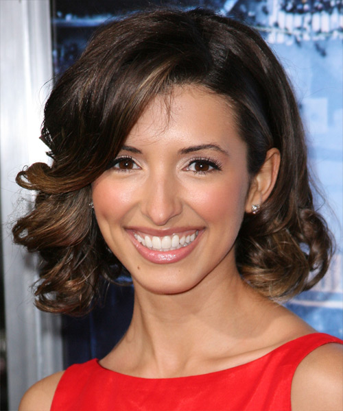 India de Beaufort  Medium Wavy Formal Hairstyle - Dark Brunette Hair Color