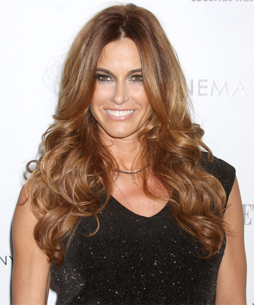 Kelly Bensimon Long Wavy Hairstyle - Light Brunette (Caramel)