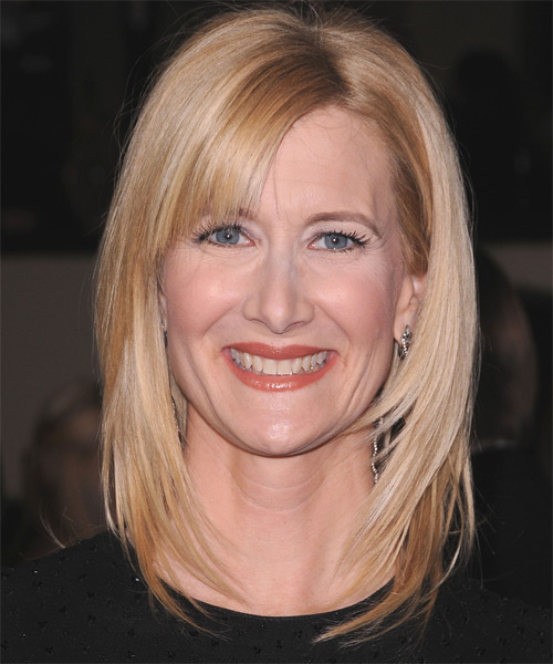 Laura Dern Medium Straight Casual Hairstyle - Light Blonde (Champagne) Hair Color