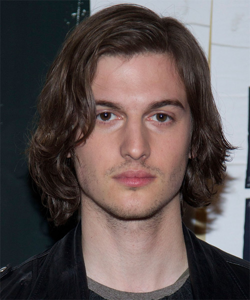 Peter Vack Long Wavy Casual Hairstyle with Side Swept Bangs - Medium Brunette (Chocolate) Hair Color
