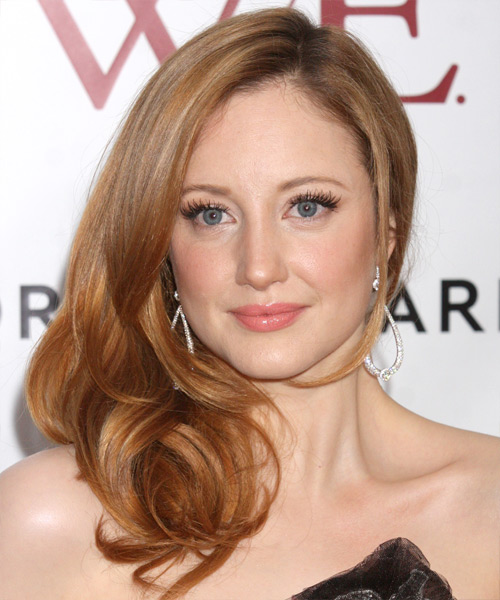 Andrea Riseborough  Long Straight Hairstyle - Medium Brunette (Copper)