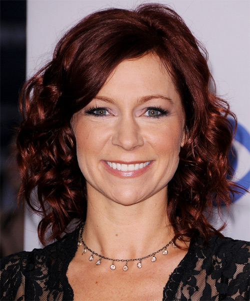 Carrie Preston Medium Wavy Hairstyle - Medium Brunette (Mahogany)