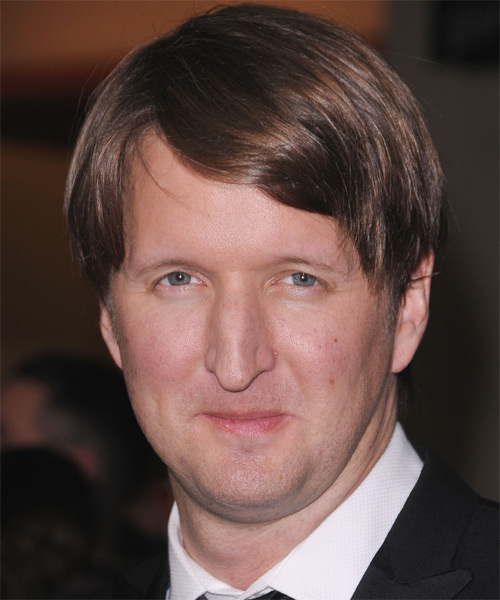 Tom Hooper Medium Straight Hairstyle - Medium Brunette (Chocolate)