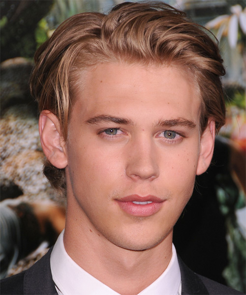 Austin Butler Short Straight Hairstyle - Light Brunette (Caramel)