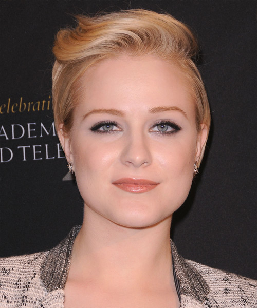 Evan Rachel Wood Short Straight Hairstyle - Medium Blonde (Golden)