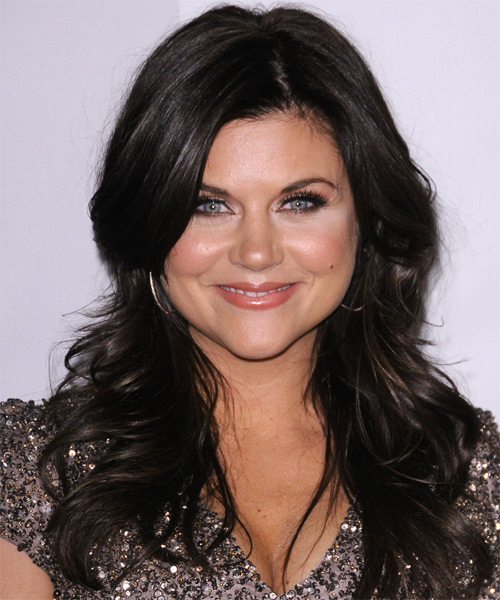 Tiffani Thiessen Long Straight Casual Hairstyle - Black Hair Color