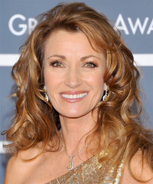 Jane Seymour Long Wavy Casual Hairstyle - Dark Blonde (Copper) Hair Color
