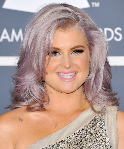 Kelly Osbourne Medium Straight Casual Hairstyle - Light Grey Hair Color