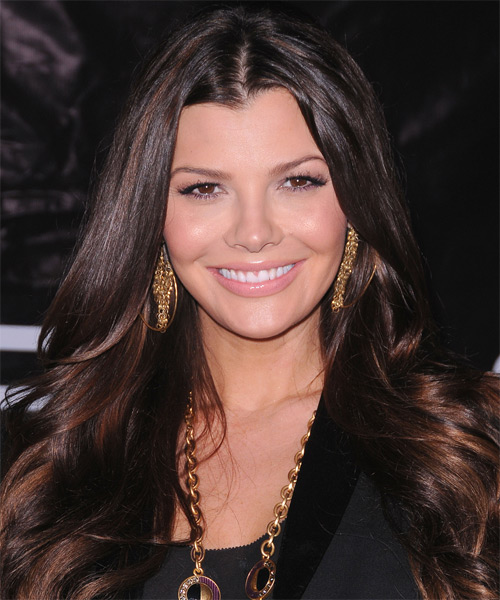 Ali Landry Long Straight Hairstyle - Black