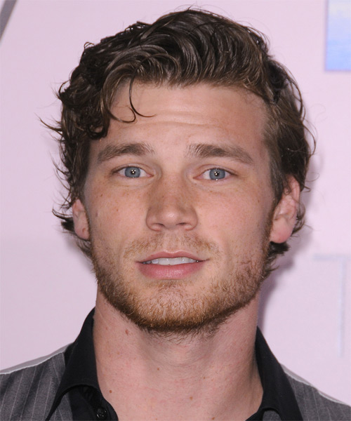 Derek Theler  Short Straight Casual Hairstyle - Medium Brunette Hair Color