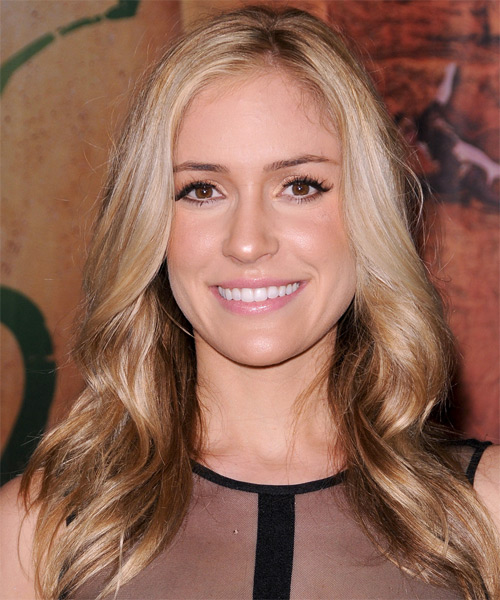 Kristin Cavallari Medium Straight Casual Hairstyle - Dark Blonde Hair Color