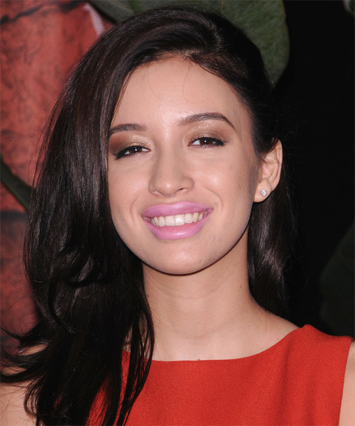Christian Serratos Long Straight Hairstyle - Black