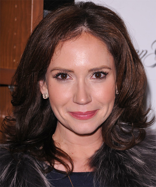 Ashley Jones Medium Wavy Hairstyle - Medium Brunette