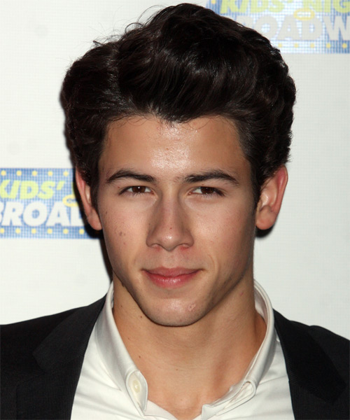 Nick Jonas Short Straight Hairstyle - Black