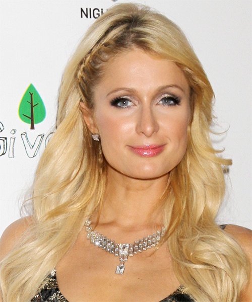 Paris Hilton Long Wavy Hairstyle - Light Blonde (Golden)