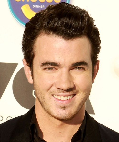 Kevin Jonas Short Straight Formal Hairstyle - Medium Brunette Hair Color