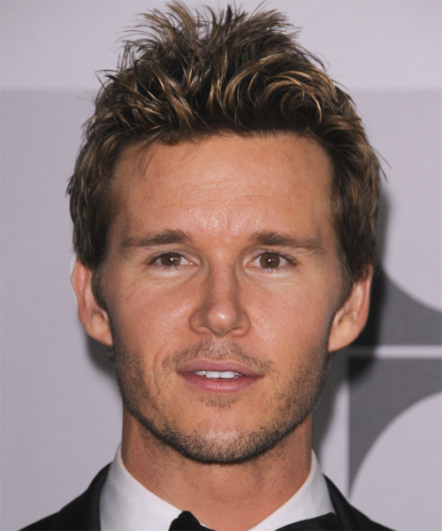 Ryan Kwanten Short Straight Casual Hairstyle - Dark Brunette Hair Color