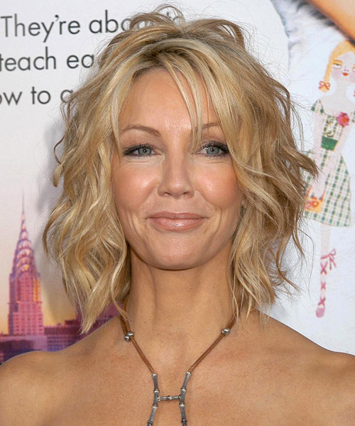 Heather Locklear Medium Wavy Hairstyle