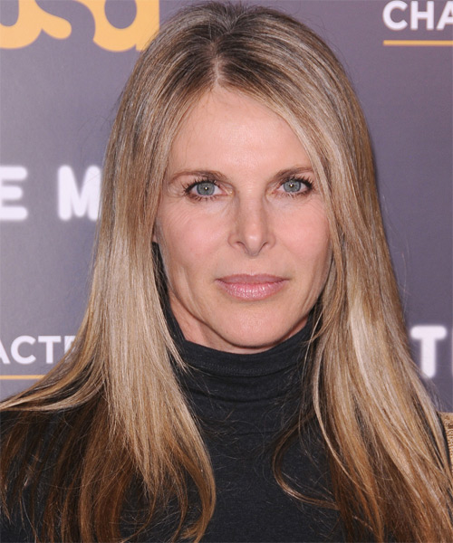 Catherine Oxenberg  - Casual Long Straight Hairstyle
