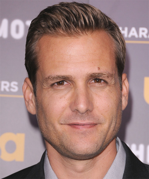 Gabriel Macht Short Straight Formal Hairstyle - Dark Blonde Hair Color
