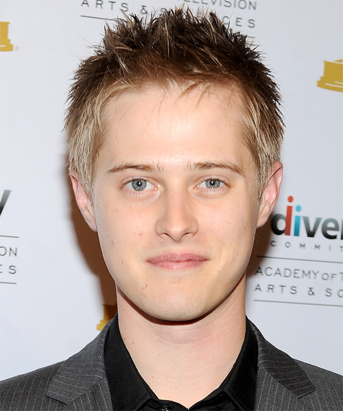 Lucas Grabeel Short Straight Casual Hairstyle - Medium Blonde Hair Color